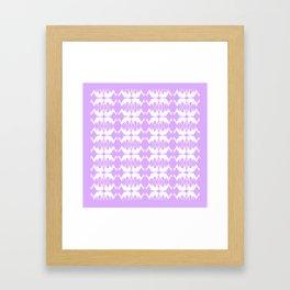 Oh, deer! in lilac purple Framed Art Print