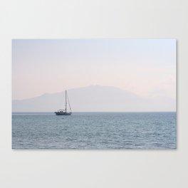 Yacht, Keri Beach Canvas Print