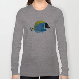 Geometric Abstract Powder Blue Tang Fish Long Sleeve T-shirt