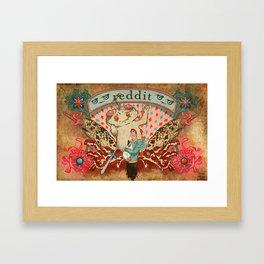 Reddit Poster Framed Art Print