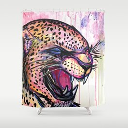 Leopard Scream Shower Curtain