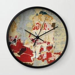 Metro Residue Wall Clock