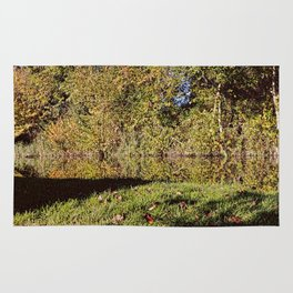 Autumn Oxford Canal Reflections Rug