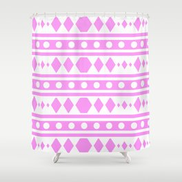 Pink Pattern Tribal Shower Curtain