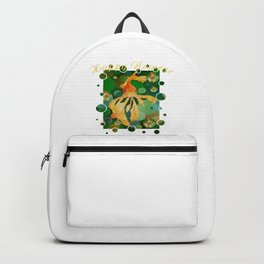 Happy Nowruz Persian New Year Goldfish In Green Sea Backpack