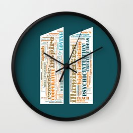 Life Path 11 (color background) Wall Clock