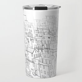 City drawing italian coloring page style Travel Mug