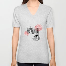 Stepping Up - What do you read from the street? Unisex V-Neck