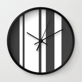 Strips - gray and white. Wall Clock