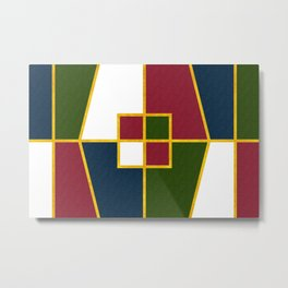 Color Block_Christmas Metal Print