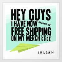 free shipping Art Prints featuring Shipping by Thecansone