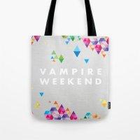 vampire weekend Tote Bags featuring Vampire Weekend  2 by alboradas