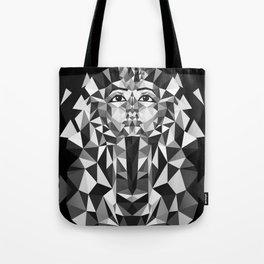 Black and White Tutankhamun - Pharaoh's Mask Tote Bag