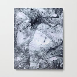 Marble Ebru pattern DR1 Metal Print