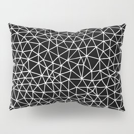 Connectivity - White on Black Pillow Sham