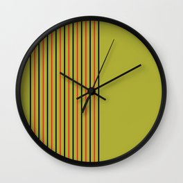 Black Red and Puke Green Wall Clock