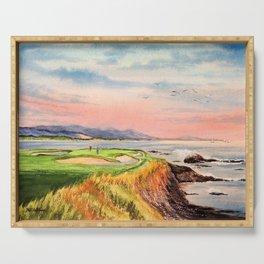 Pebble Beach Golf Course Hole 7 Serving Tray