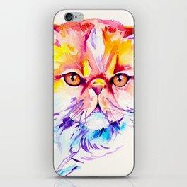 Persian Cat Watercolor Painting iPhone Skin