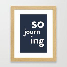 Sojourning Framed Art Print