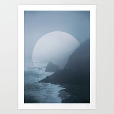 B+W New Zealand Coast II  Art Print