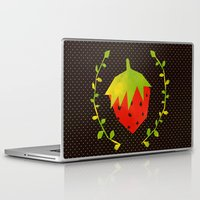 strawberry Laptop & iPad Skins featuring Strawberry by Strawberringo