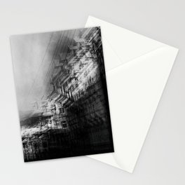 city in monochrome Stationery Cards