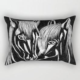 Horses love Rectangular Pillow