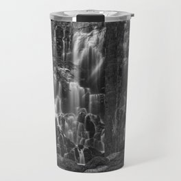 Ramona Falls in the Forest - B+W Travel Mug