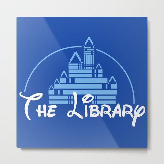 The Library Metal Print