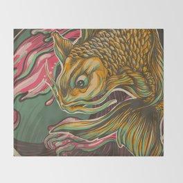 Japanese Fish Throw Blanket