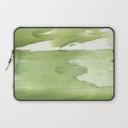 Green khaki clouded wash drawing texture Laptop Sleeve