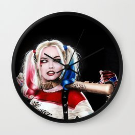 HarleyQuinn Drawing Wall Clock