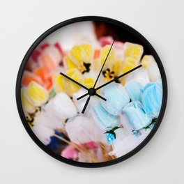 Colorful flowers at bazaar Wall Clock