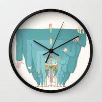 boss Wall Clocks featuring Boss by Max Elbo
