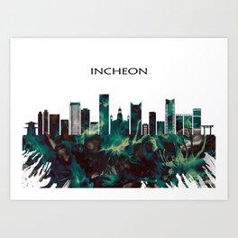 Incheon Skyline Art Print