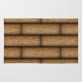 Realistic wood texture Rug