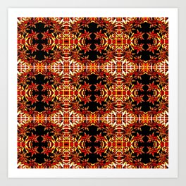 Traditional Christmas Star Pattern Art Print