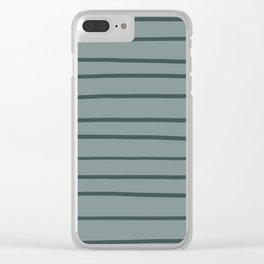Night Watch PPG1145-7 Hand Drawn Horizontal Stripes on Scarborough Green PPG1145-5 Clear iPhone Case
