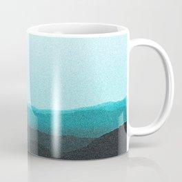 Dreamy Mountain Range | Serene Calm Turquoise Blue Aqua Ombre Daydream Sunset California Hills Coffee Mug