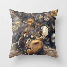 Pebbles in the Water Throw Pillow