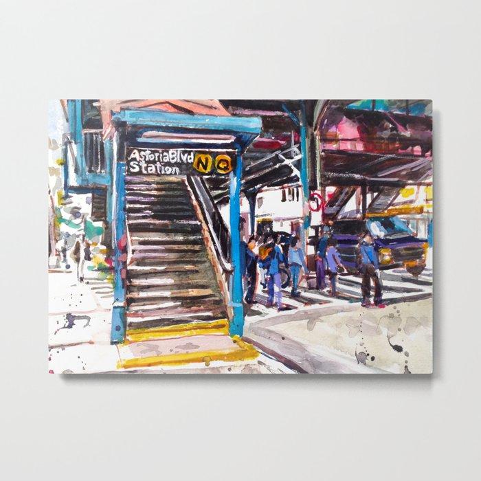 Astoria Boulevard Station, Queens Metal Print