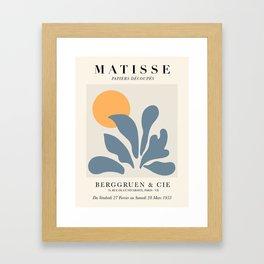 Exhibition poster Henri Matisse 1953. Framed Art Print