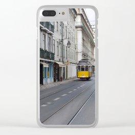 lisbon tram symbol Clear iPhone Case