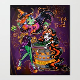Halloween Trick or Treat Canvas Print