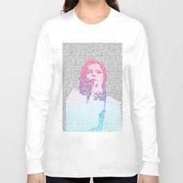 Badlands Lyrics (Gradient) Long Sleeve T-shirt