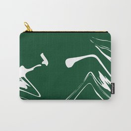 Green With White Liquid Paint Carry-All Pouch