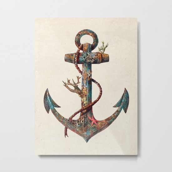 Lost at Sea - colour option Metal Print