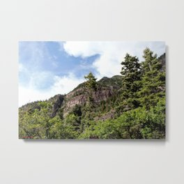 A Trail Leads Up There, to the Upper Cascades --- Rising 1,100 Feet in Less Than a Mile Metal Print
