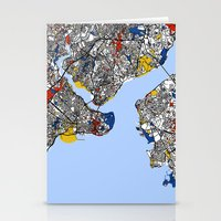 istanbul Stationery Cards featuring Istanbul by Mondrian Maps