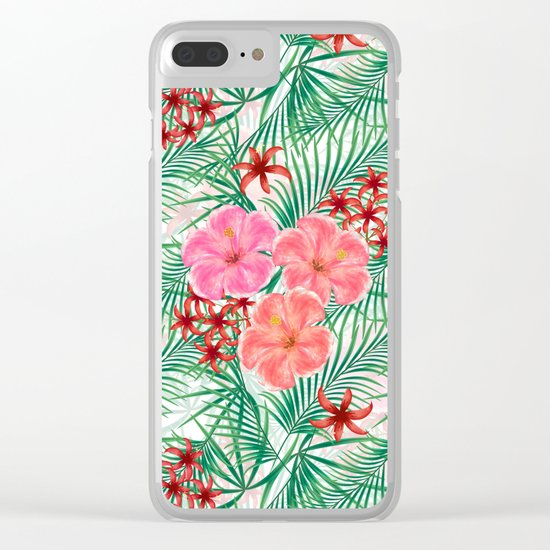 Tropical pattern. Clear iPhone Case